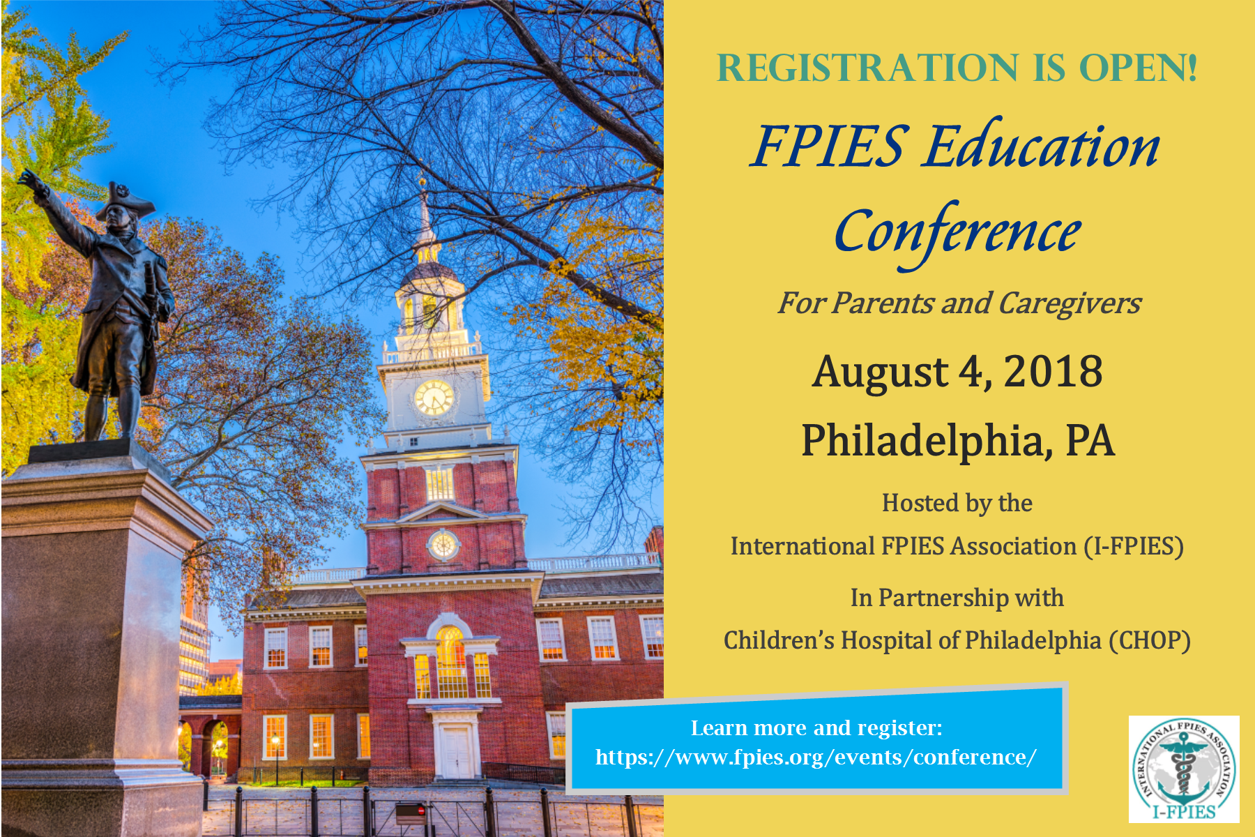 Registration Is Open for 2018 FPIES Education Conference!